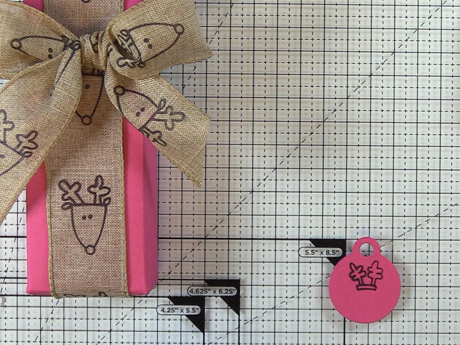 Die cut tag for sentiment