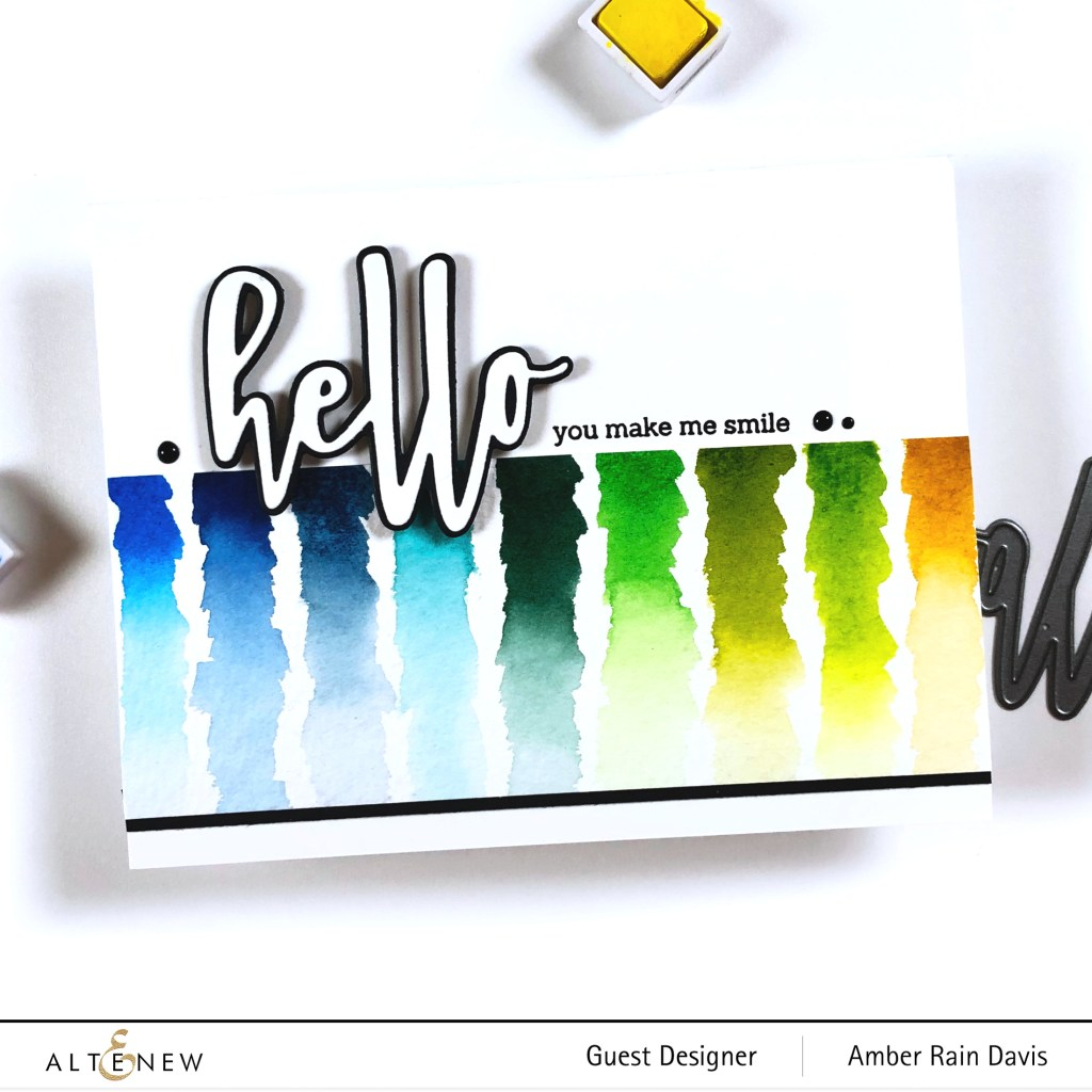 Watercolor Swatch Card | Hello and Hugs Stamp & Die Bundle