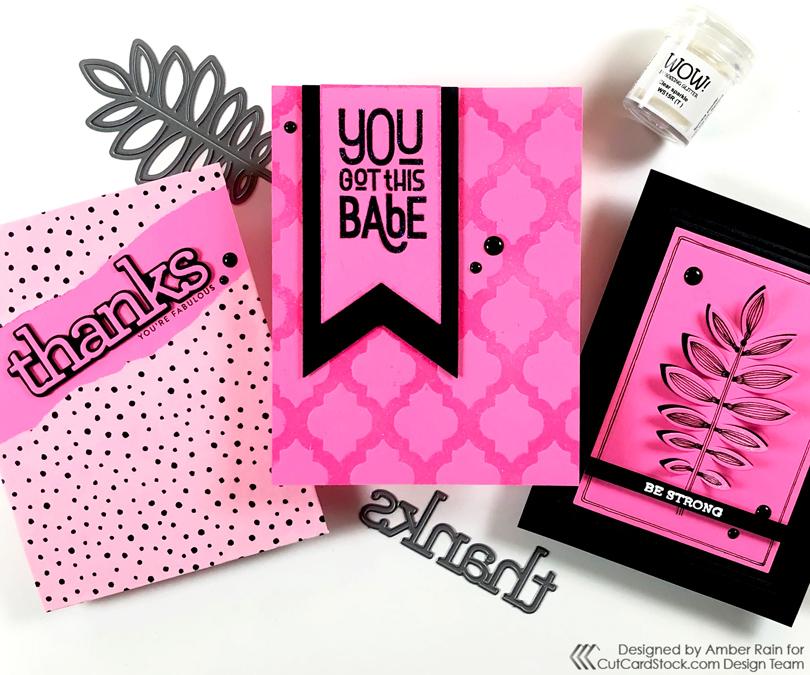 WOWZA, Neon Pink Card Designs!