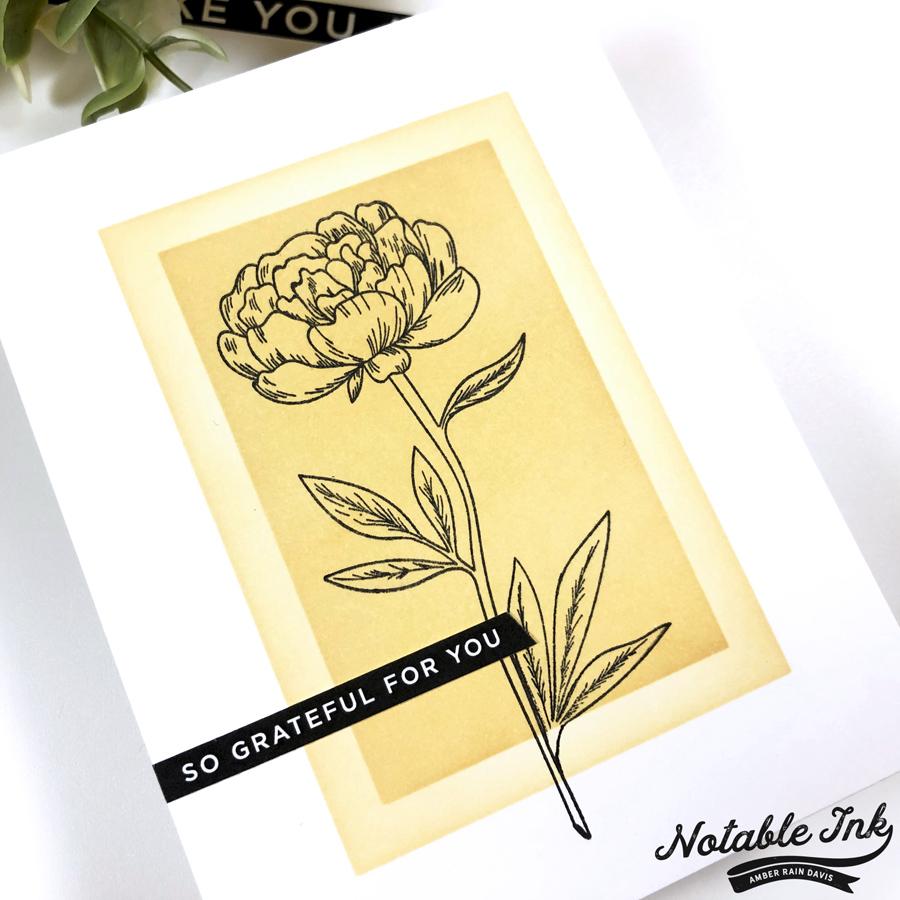 SSS Sentiment Strips & Beautiful Flowers 2