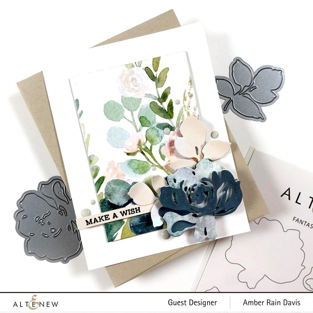 Fantasy Floral Die Set & Verdant Walk 6x6 Paper Pack