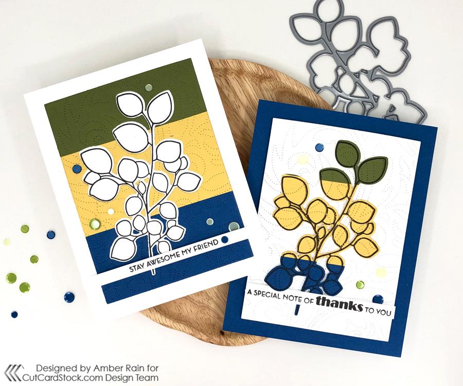 Easy Inlaid Color Block Cards | CutCardStock