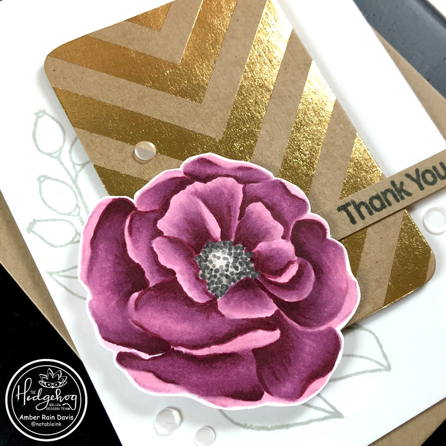 No Masking Floral Card | Copic Coloring