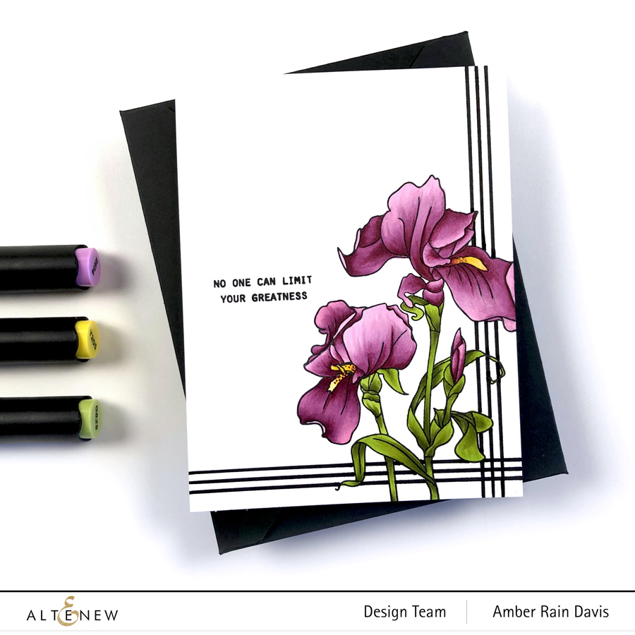 Altenew Paint-a-Flower: Iris alcohol marker