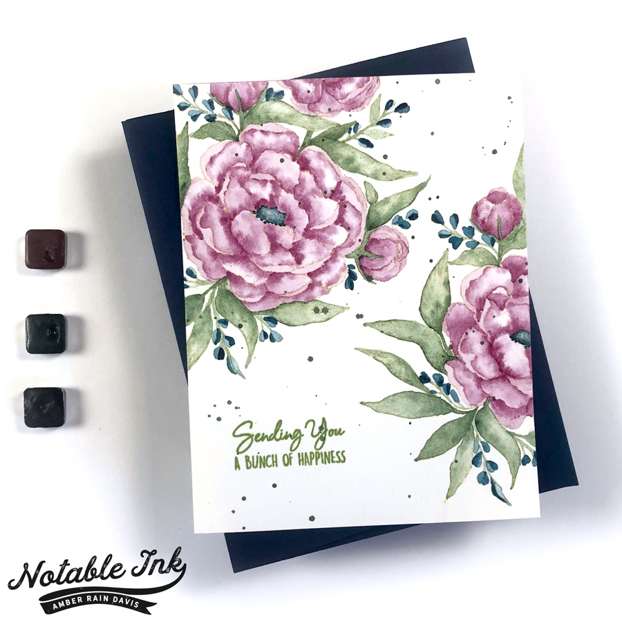 Watercolor Peony Bliss