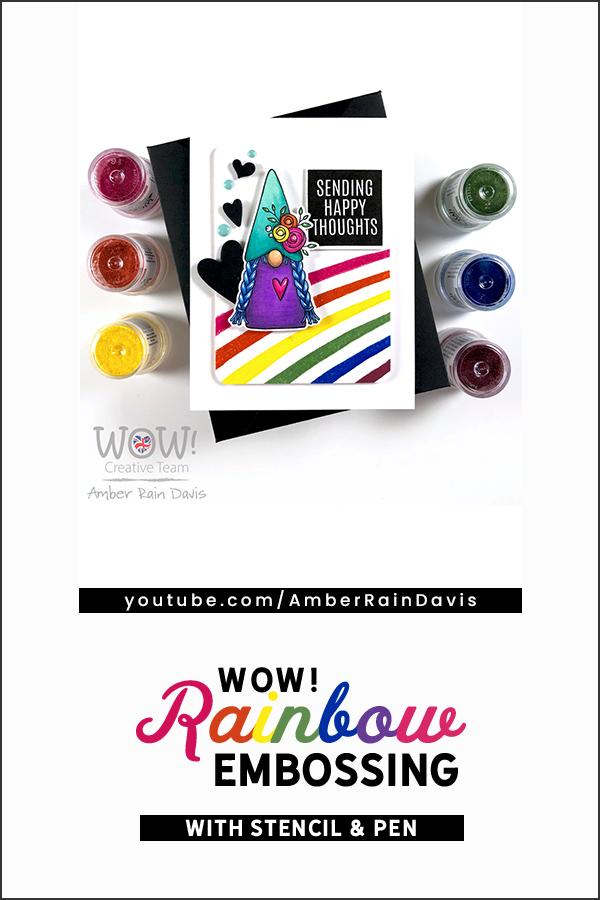 PINTEREST | WOW! Rainbow Embossing