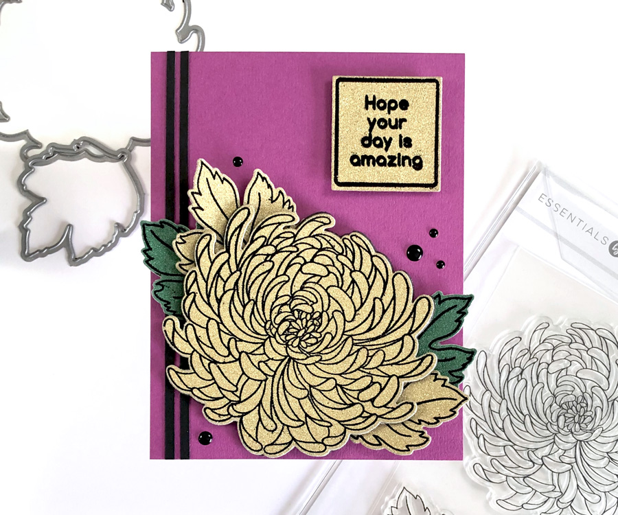 How to Heat Emboss Glitter Cardstock