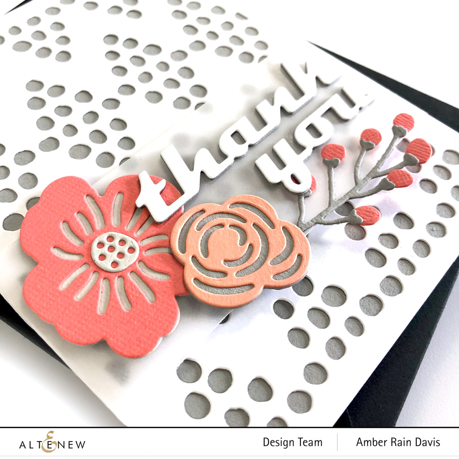 Altenew Layered Floral Elements Die Set & CutCardStock Basis Coral & DCS Wild Salmon