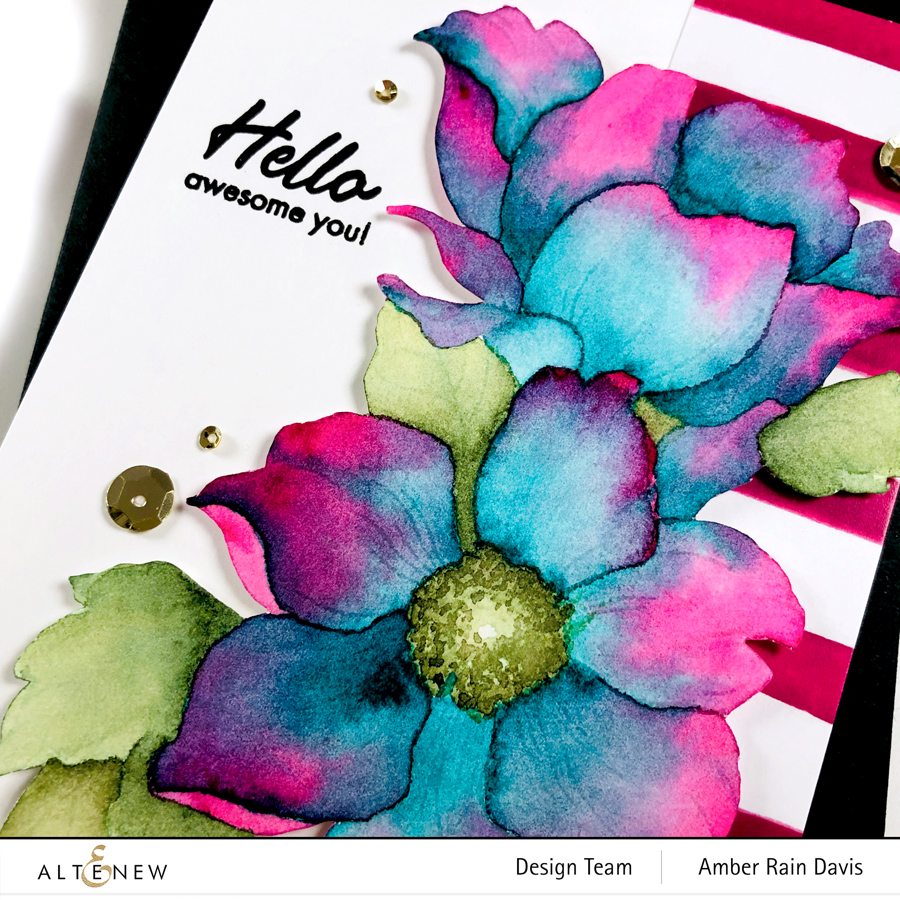 Watercolor Altenew Statement Flowers Stamp Set