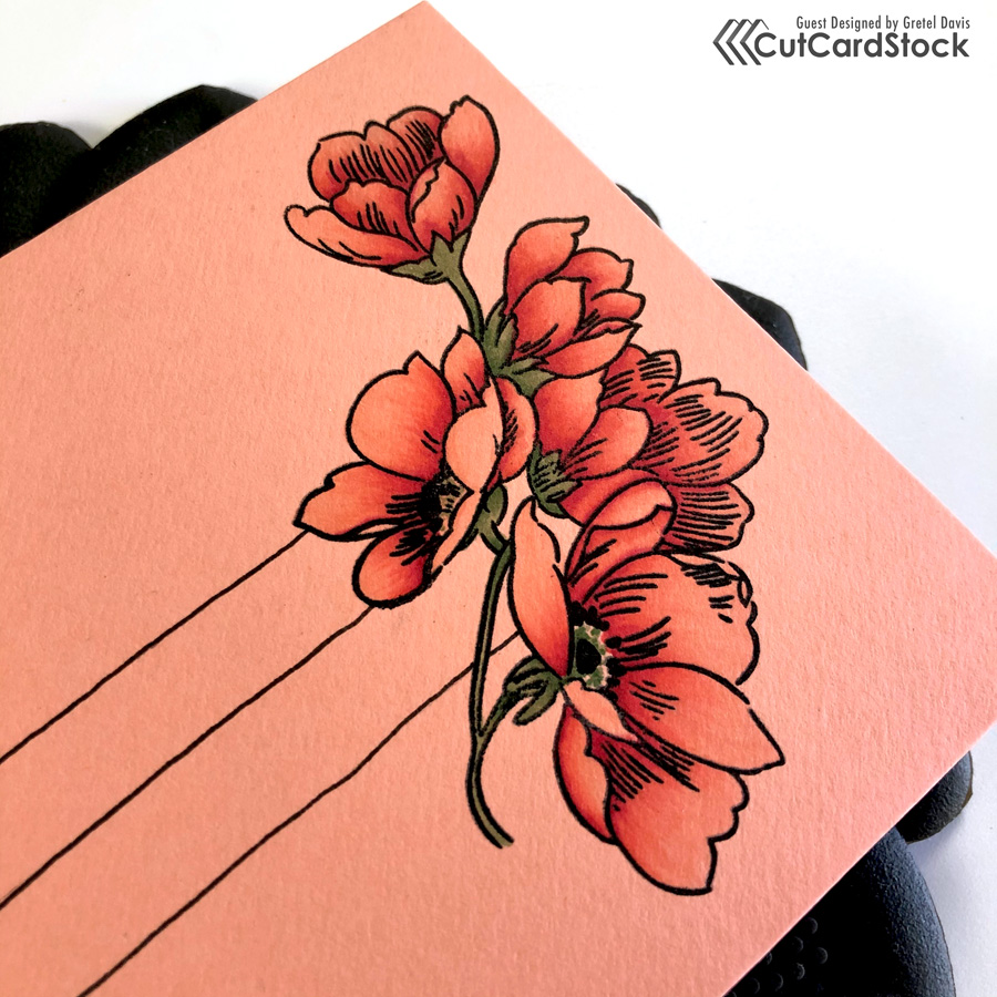 Altenew Pen Sketched Flowers
