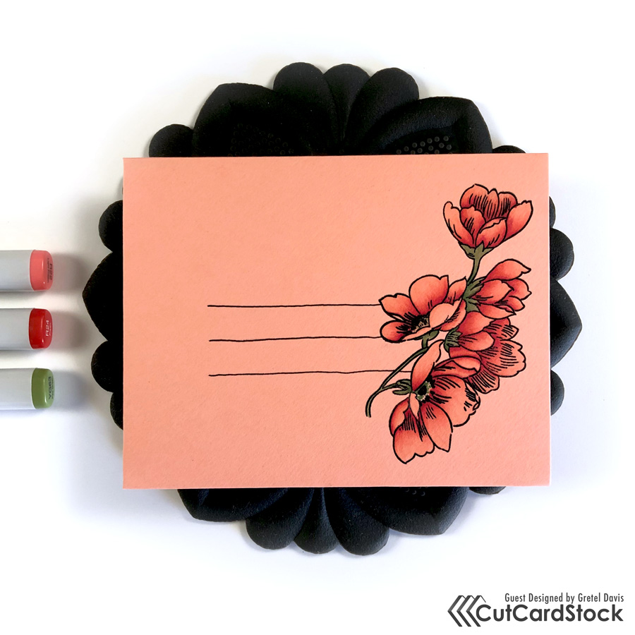 Copic Envelope Art by Gretel Davis