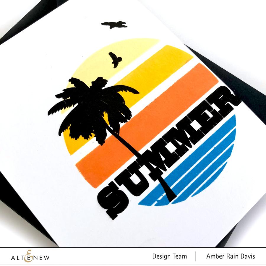 Altenew Gradient Sunset Stamp & Die Bundle