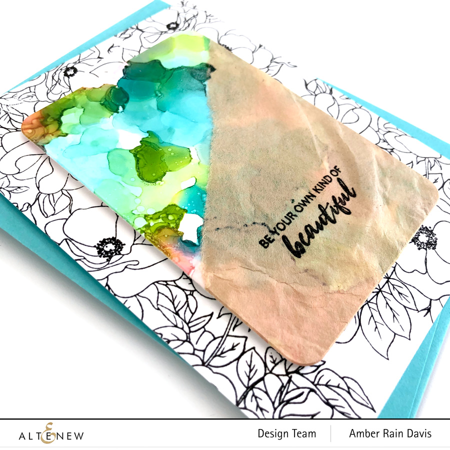 Alcohol Ink Card Design