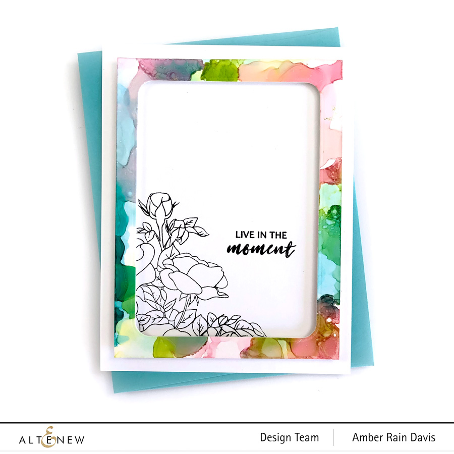 Alcohol Ink clean and simple card