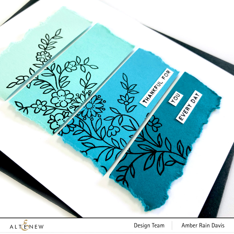 Altenew Gradient Cardstock Thank You Card