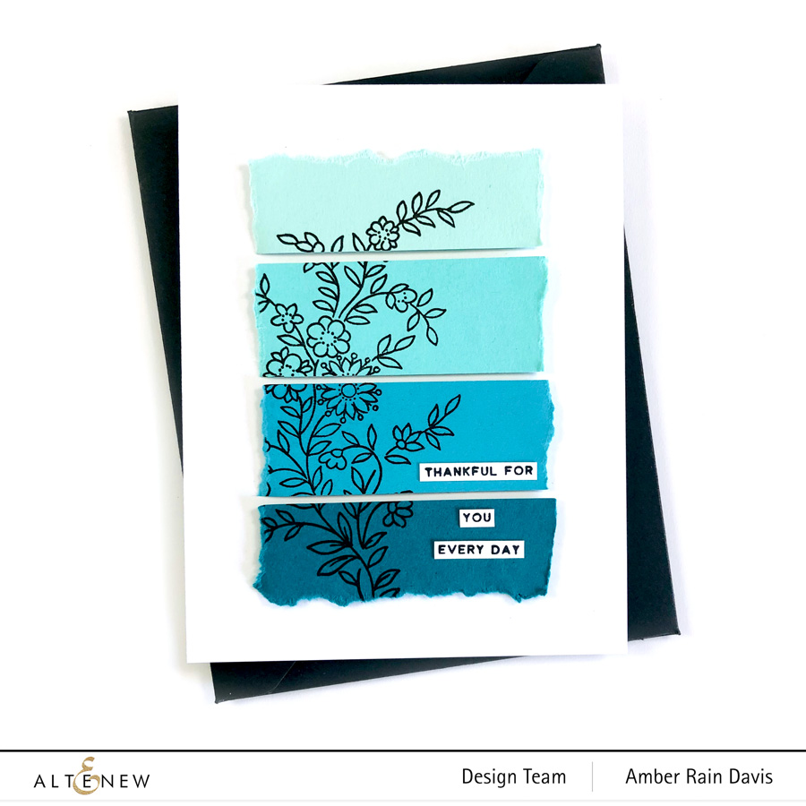 Paint Chip Card with Gradient Cardstock
