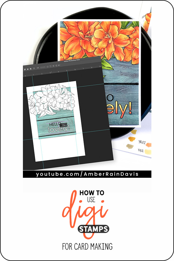 PINTERST | How to Use Digital Stamps for Card Making