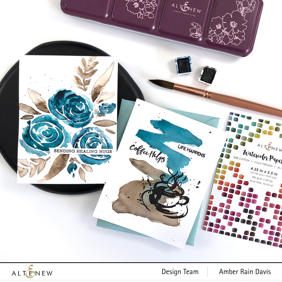 Foolproof Watercolor Cards | Altenew Color Connection with Amber