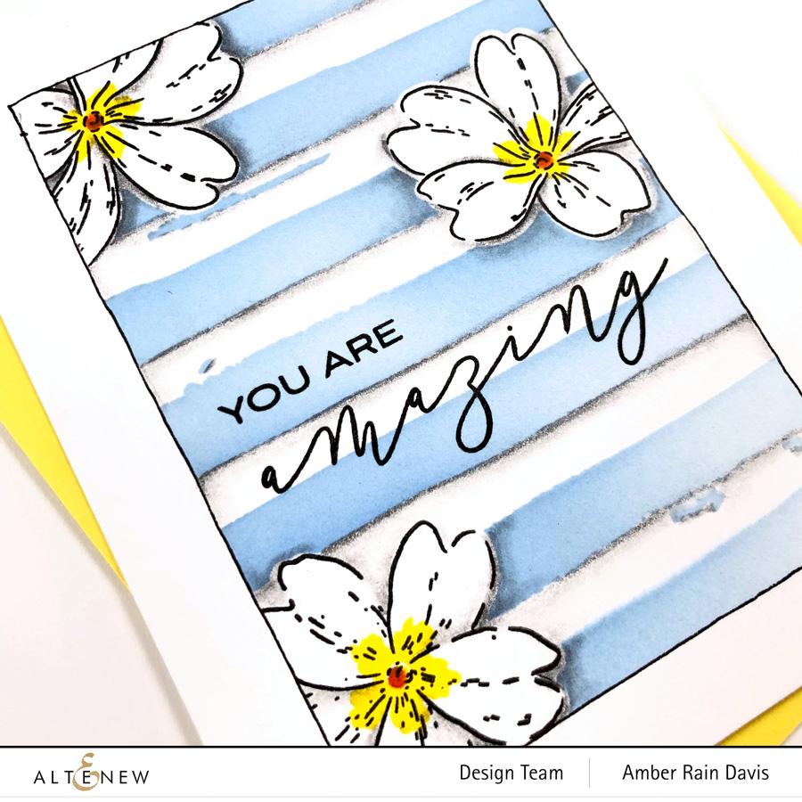 Altenew Build-A-Flower: Primrose & Watercolor Stripes Stencil