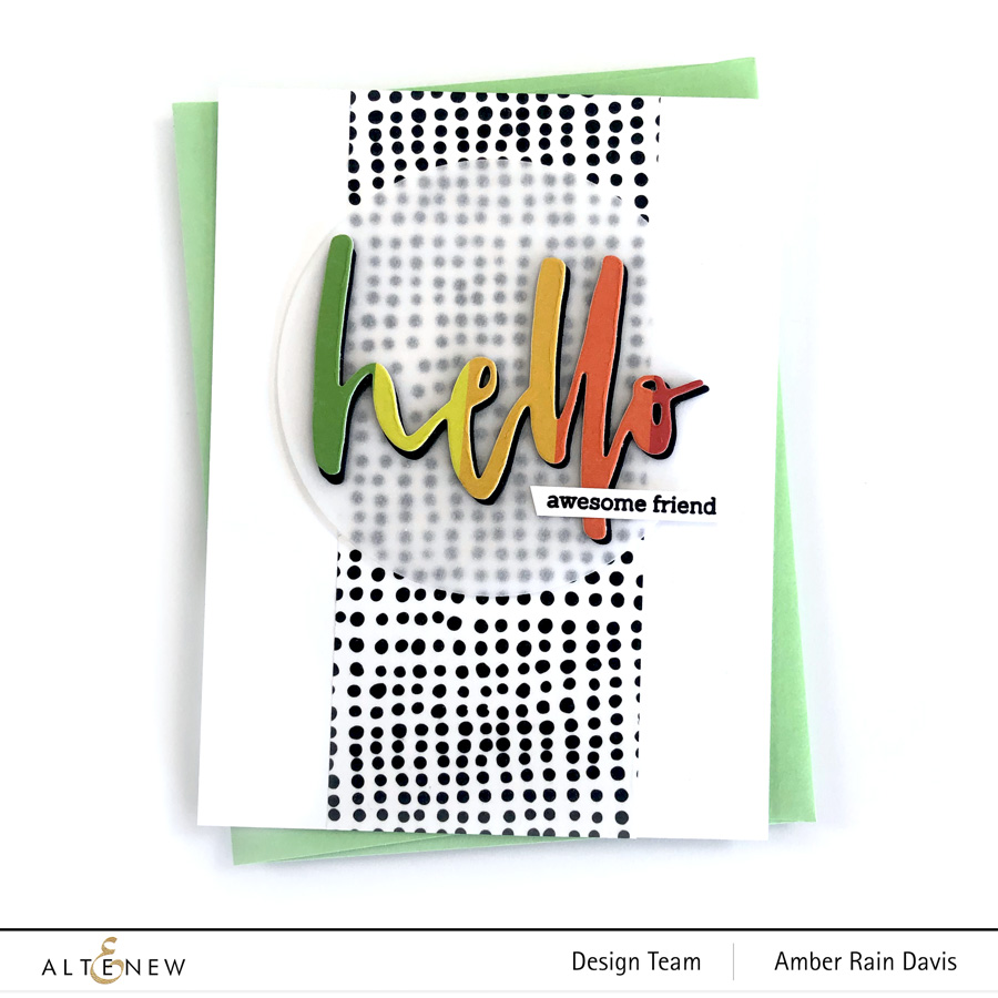 Waterbrush Hello Die | Die-Cut and Washi Tape Magic