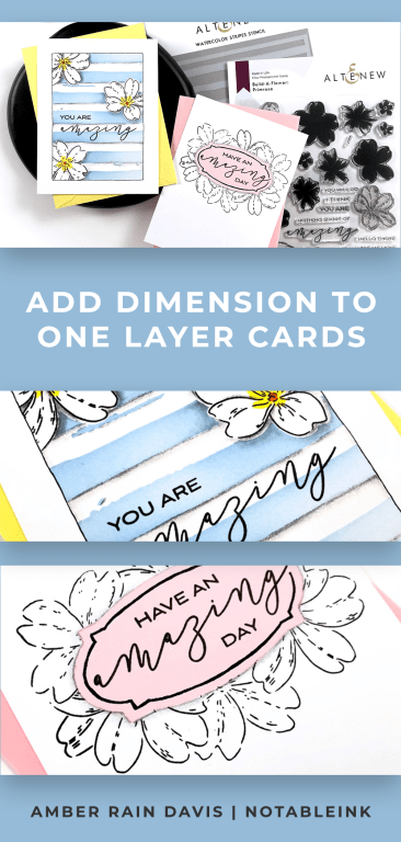 PINTEREST | Add Dimension to One-Layer Cards