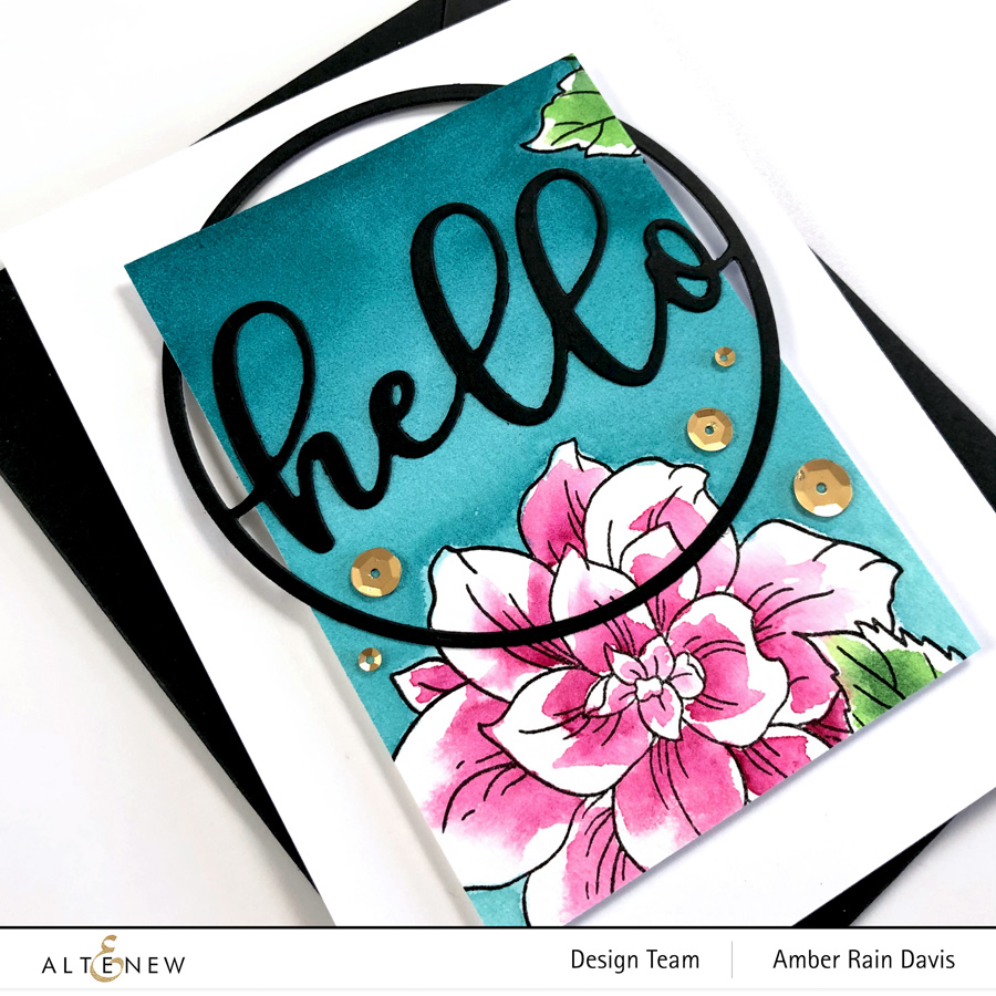 Altenew Courageous You Stamp Set & Circled Greetings: Hello Die
