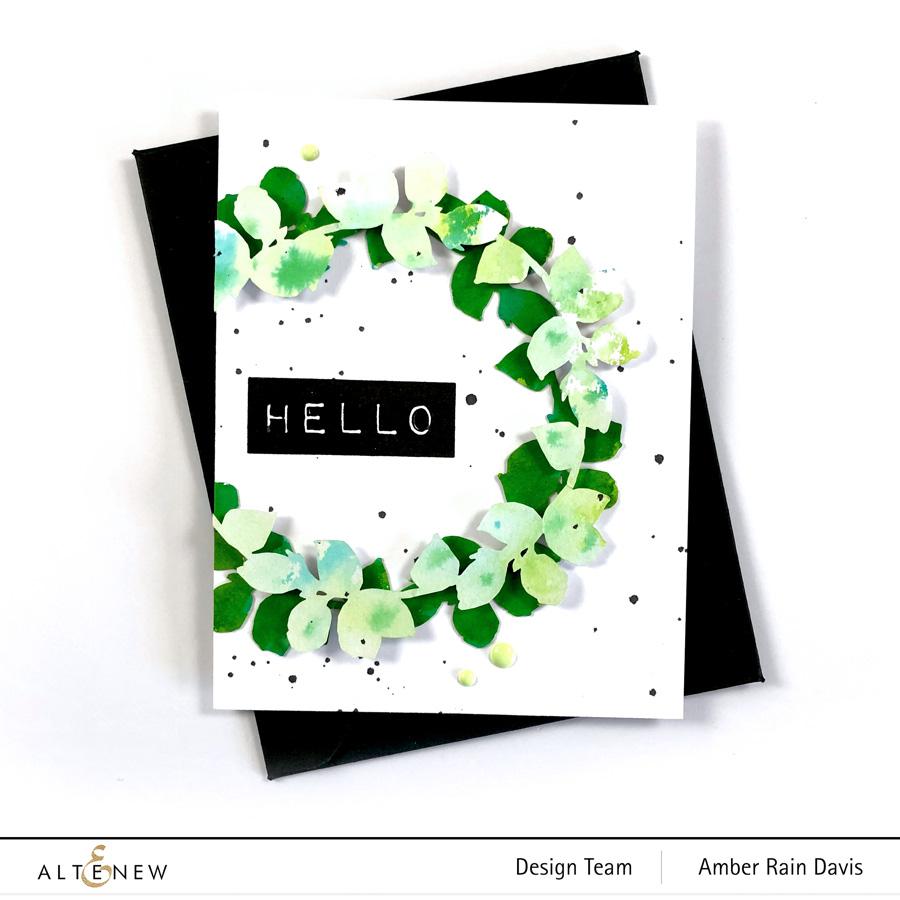 Altenew Creative Cutouts Watercolor Card