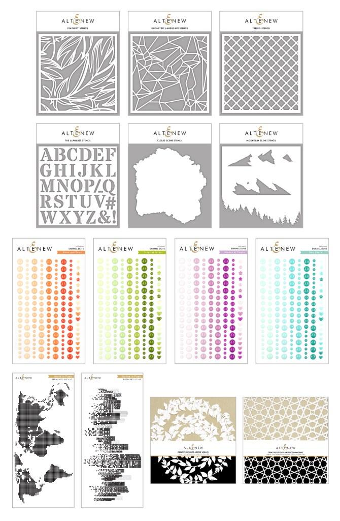 Altenew Serenity Full Release | Stencils, Enamel Dots, & Creative Cutouts