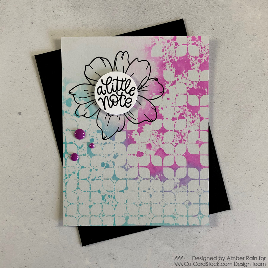 Reverse Stenciling with Simon Says Stamp Geo Leaves Stencil