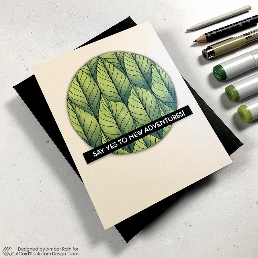 easy Zentangle® leaflet pattern