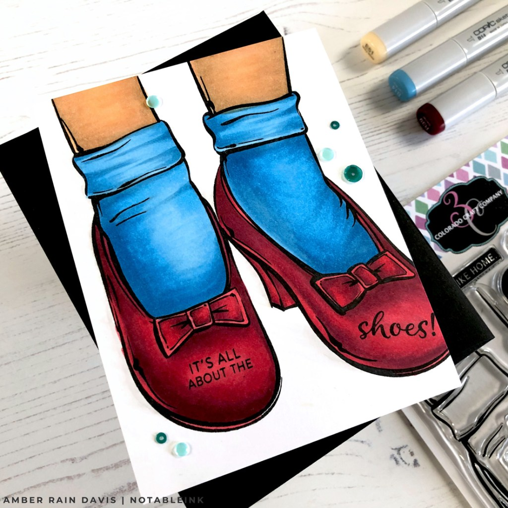 Copic Coloring Ruby Slippers Stamp Set