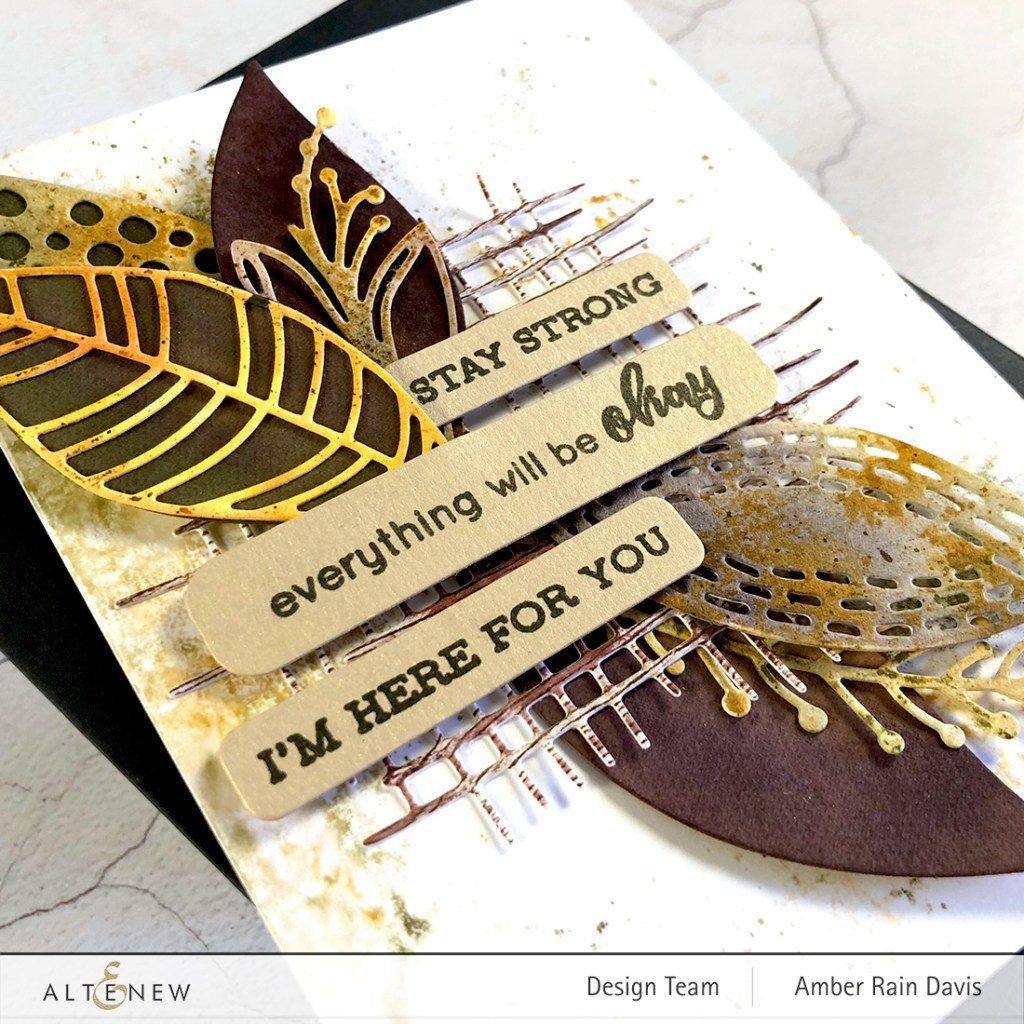 Featured Sentiment Die Set & Textured Burlap Die