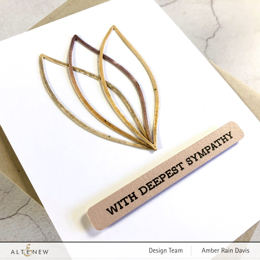 Curious Metallic Rose Gold Sentiment Strip