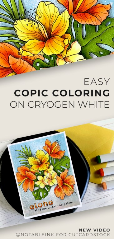 PINTEREST | Easy Copic Coloring on Cryogen White