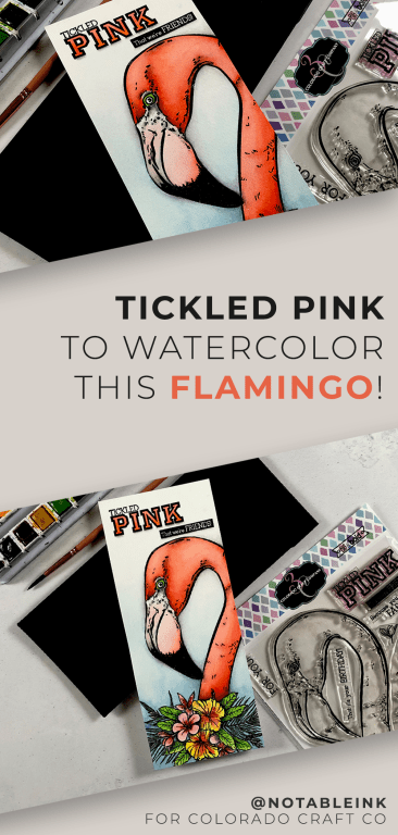 PINTEREST | Tickled Pink to Watercolor this Flamingo!