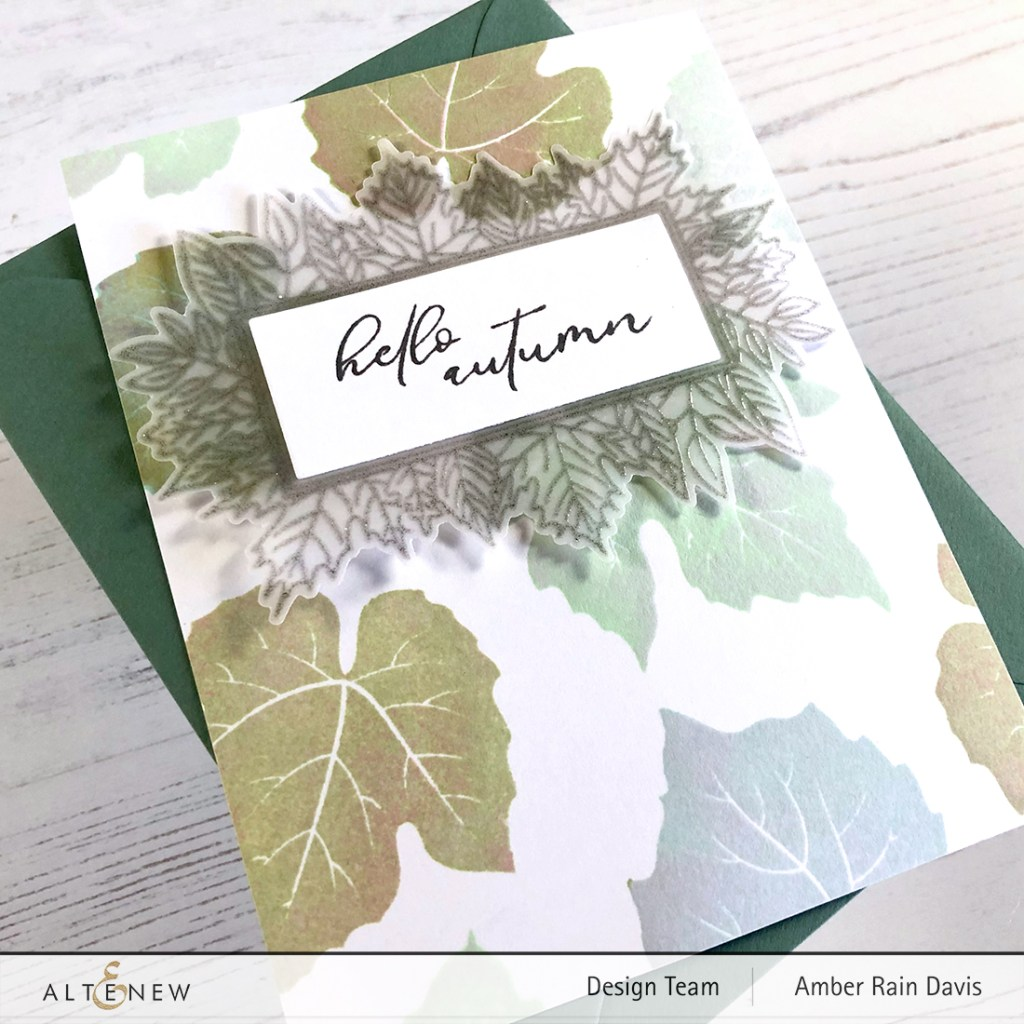 Altenew Grape Leaves Stamp Set | Amazing Pastel Chic