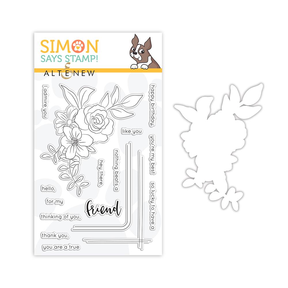 Altenew STAMPtember Exclusive Framed Friendship Stamp & Die Set