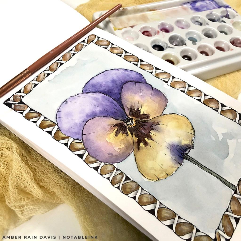 Easy Watercolor Viola