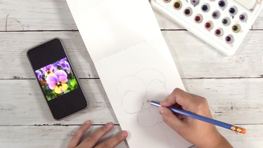 Easily Sketch A Viola Flower