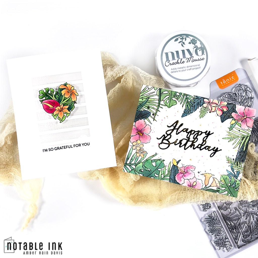 Floral Borders, Frames & Centerpieces + Mind-Blowing Stamp Masking Trick
