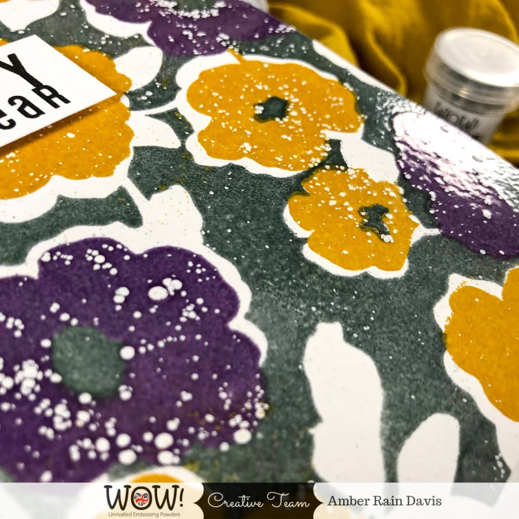 Embossing with Background Stamps