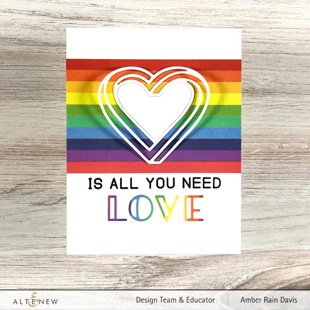 Altenew Illusion Heart Die Set & Instant Rainbow Washi Tape
