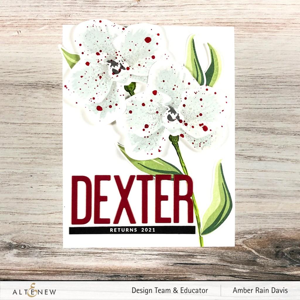 Dexter Season 9 themed handmade card