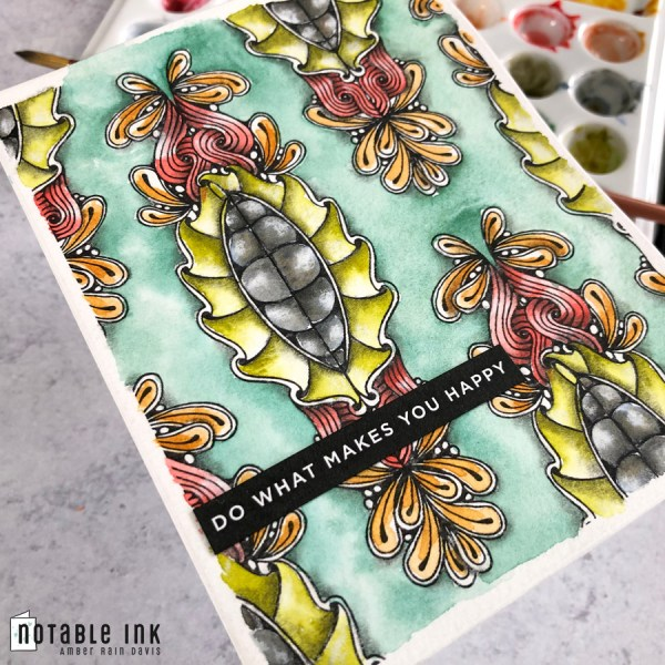 Zen Watercolor Swatch A2 Card Stamp