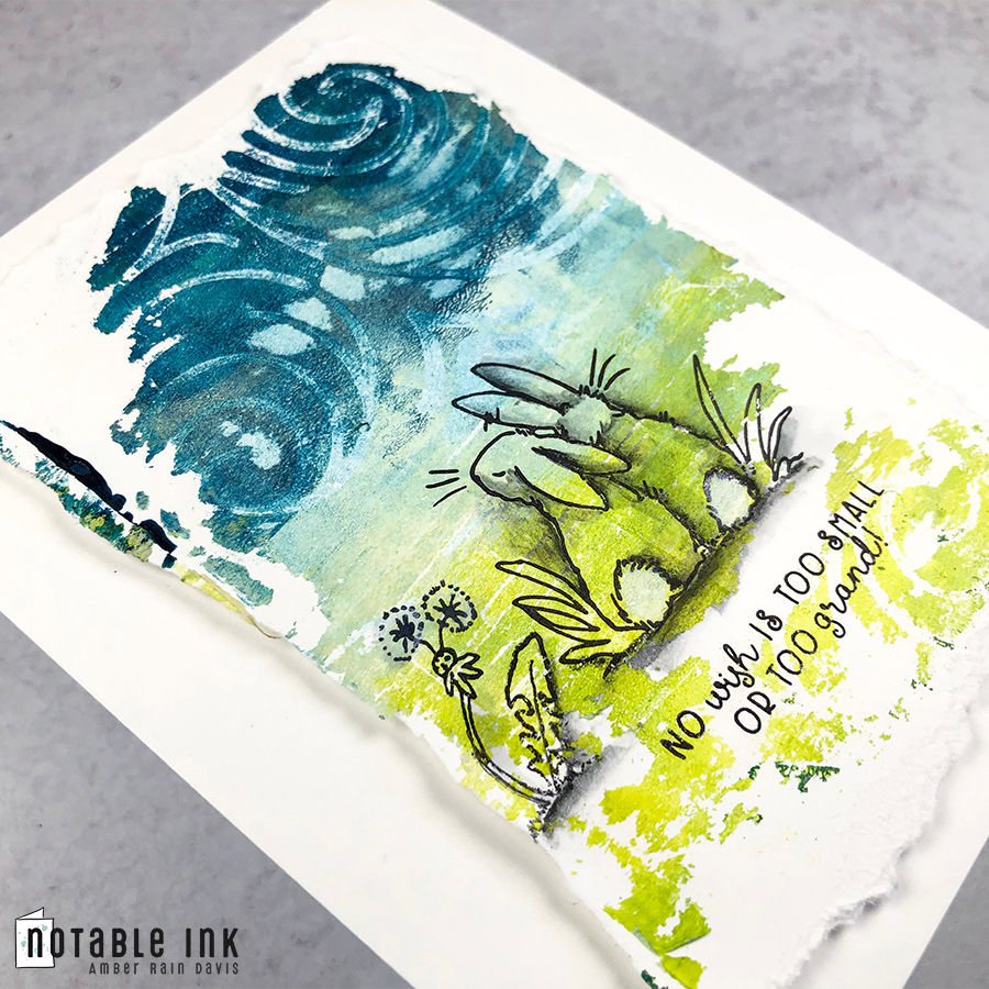 How to make a gel press print nature scene for a critter stamp set