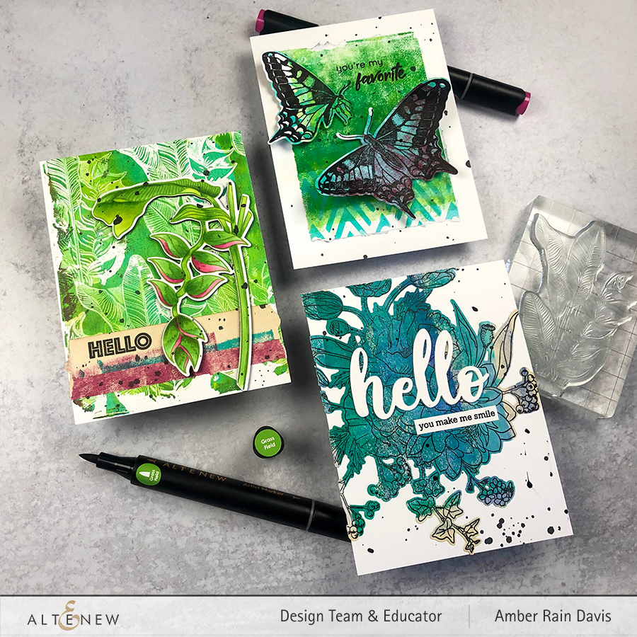 HOW TO MAKE MIXED MEDIA CARDS | ALTENEW EXOTIC GARDEN HOP