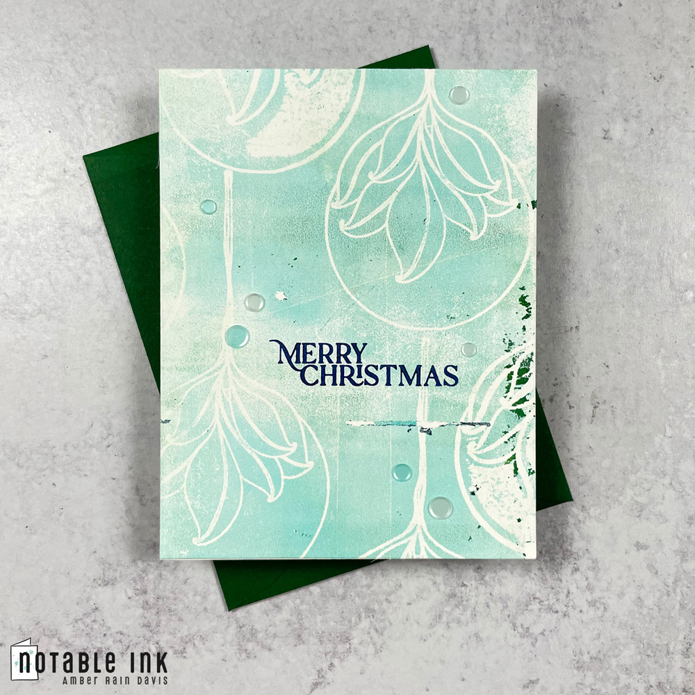 Quick & Easy Gel Print Christmas Card | Nature Baubles Stamp Set
