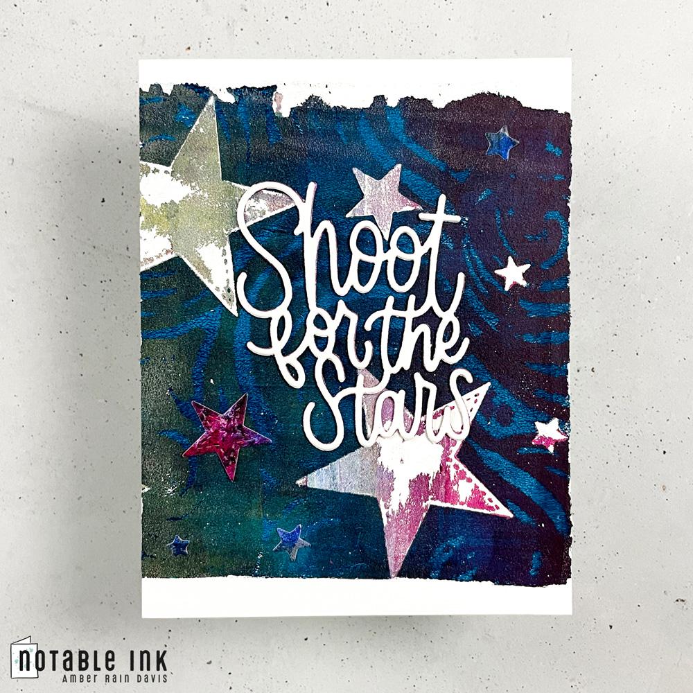 Gel Print Fail   Simon Says Stamp Shoot For The Stars