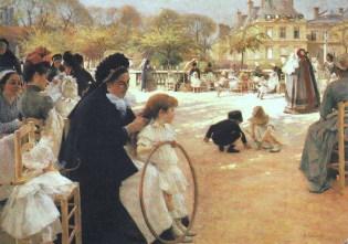 Edelfelt, Albert (Finnish, 1854-1905) - The Park of Luxembourg - 1887