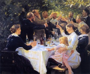 Hip, Hip, Hurrah! - 1888 - Peder Severin Kroyer -Norwegian, 1851-1909